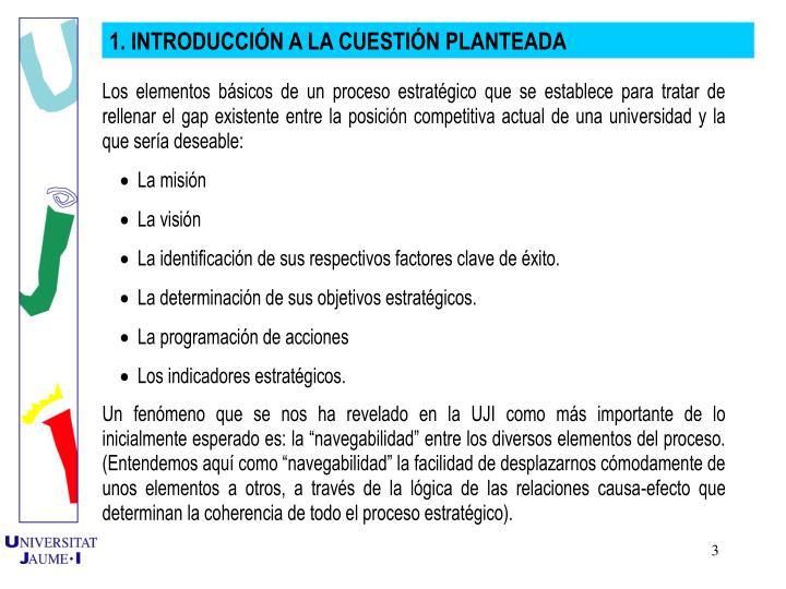 1. INTRODUCCIN A LA CUESTIN PLANTEADA