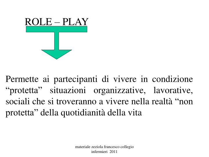 ROLE – PLAY