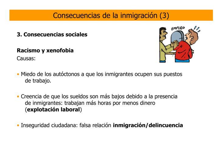 Consecuencias de la inmigración (3)