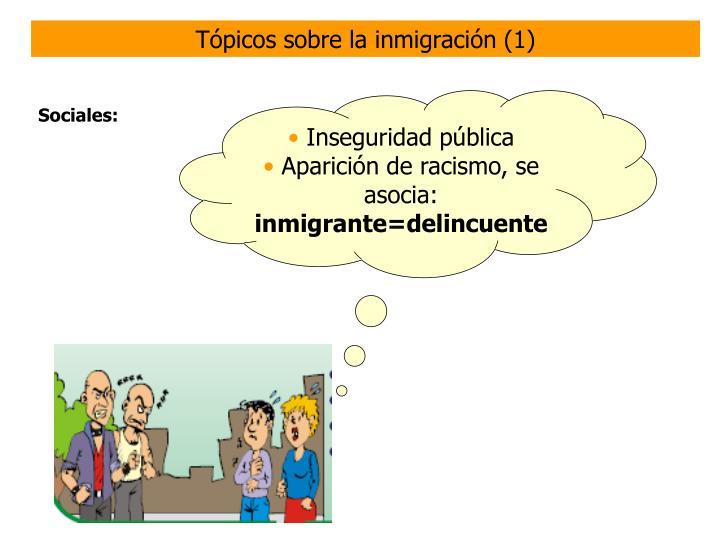 Tópicos sobre la inmigración (1)