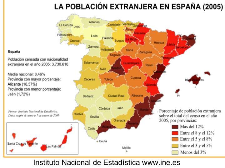 Instituto Nacional de Estadística www.ine.es