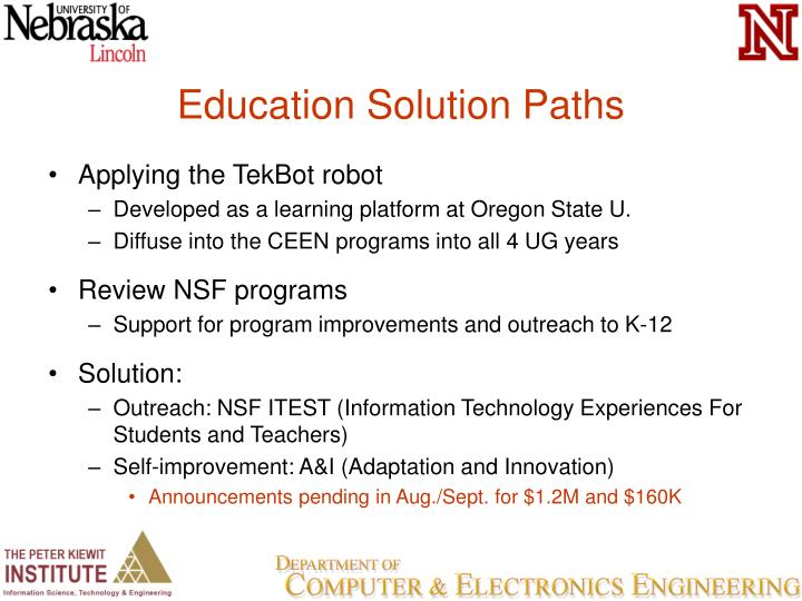 Education Solution Paths