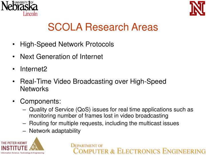 SCOLA Research Areas
