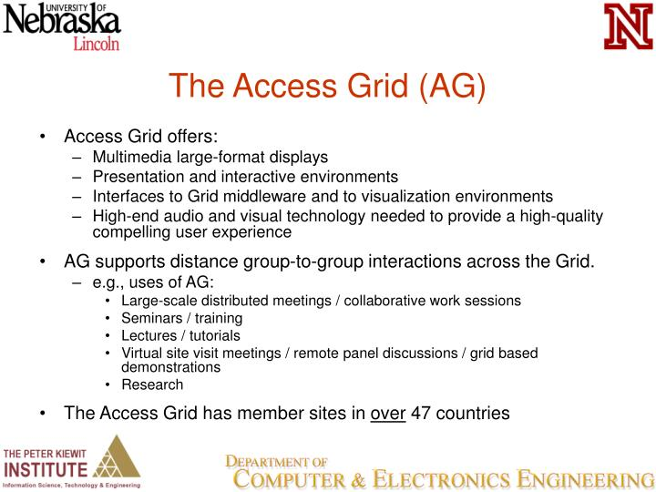 The Access Grid (AG)