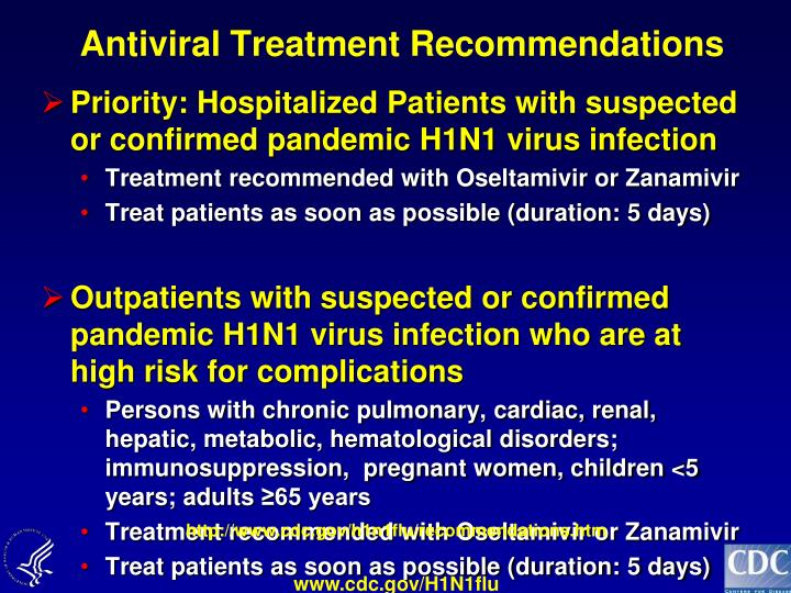 Antiviral Treatment Recommendations