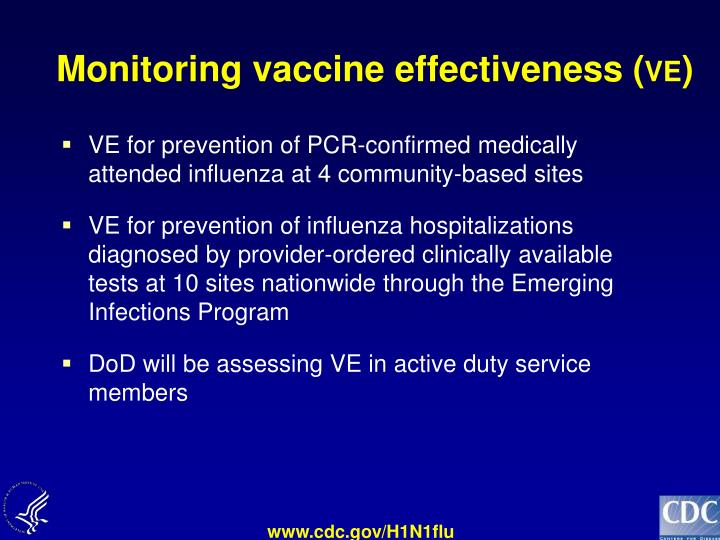 Monitoring vaccine effectiveness (