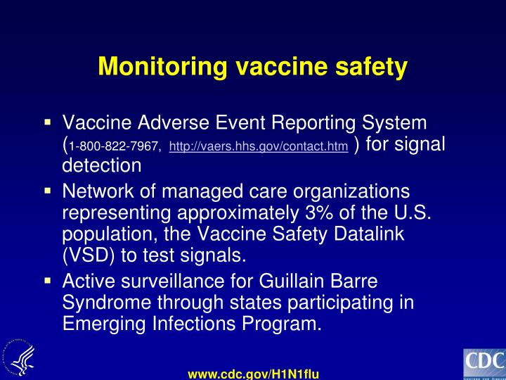 Monitoring vaccine safety