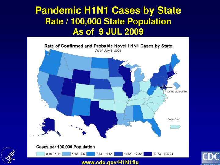 Pandemic H1N1 Cases by State