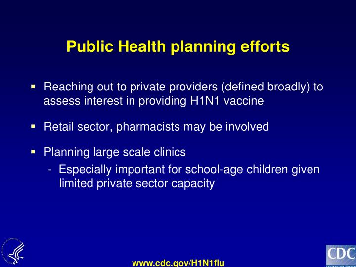 Public Health planning efforts