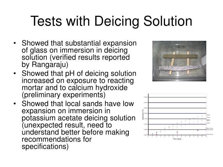 Tests with Deicing Solution
