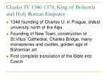 charles iv 1346 1378 king of bohemia and holy roman emporer