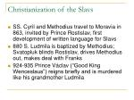 christianization of the slavs