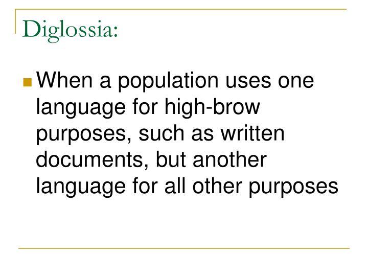 Diglossia: