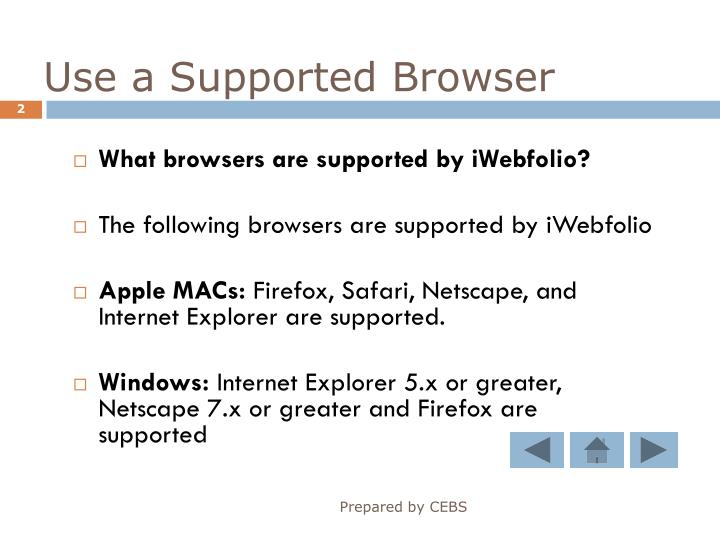 Use a supported browser