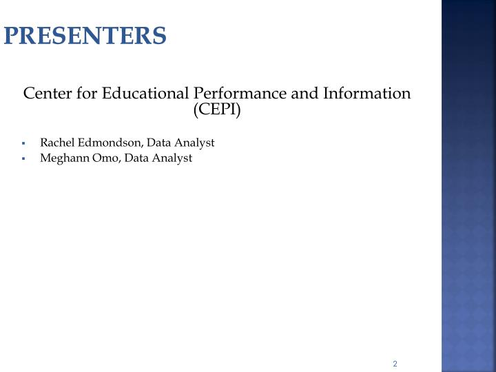 Center for Educational Performance and Information (CEPI)