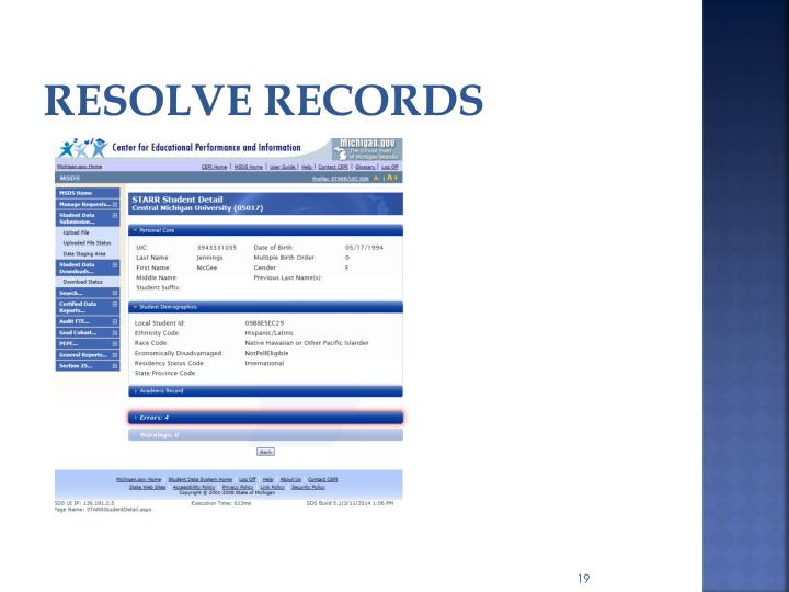 resolve records