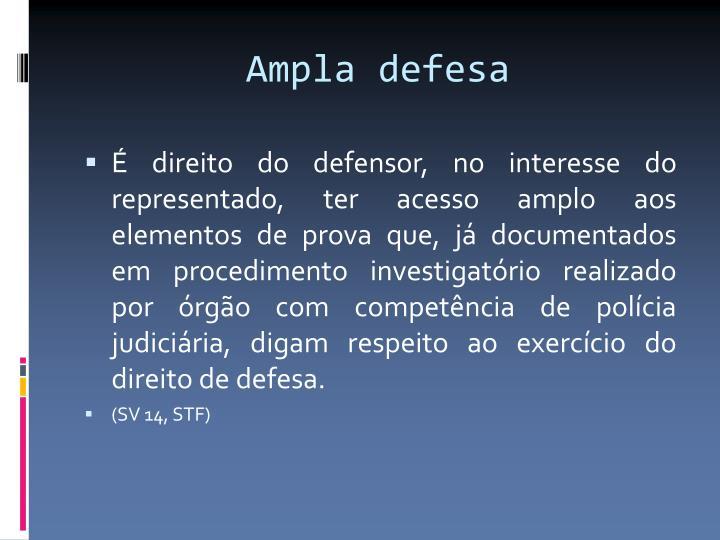 Ampla defesa