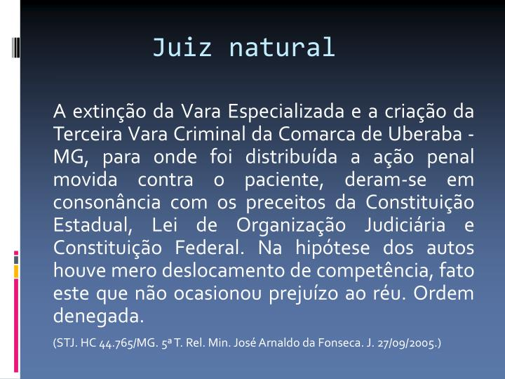 Juiz natural
