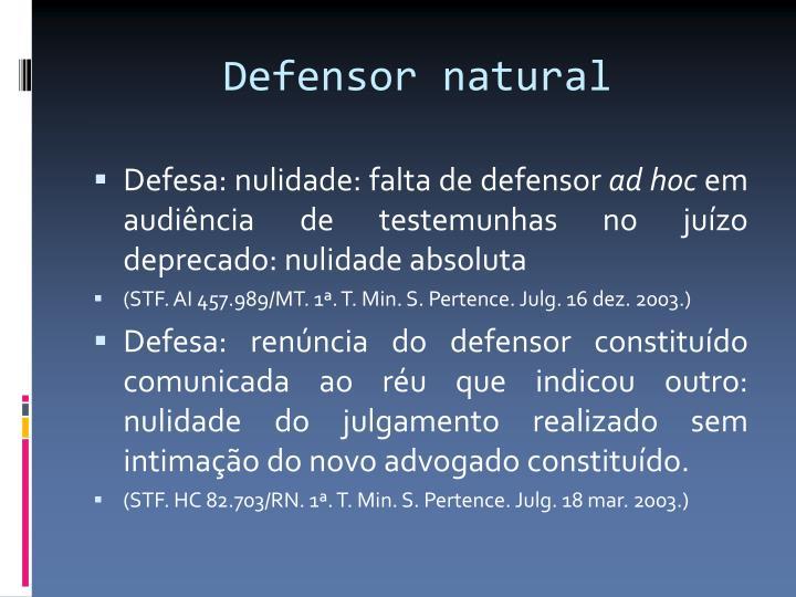 Defensor natural