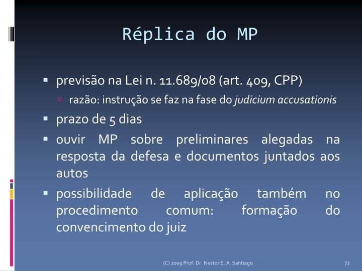 Réplica do MP