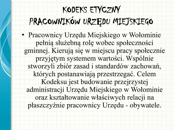 KODEKS ETYCZNY