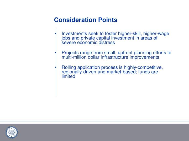 Consideration Points