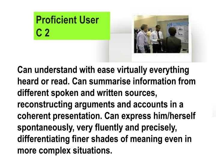 Proficient User