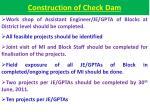 construction of check dam