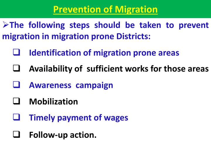 Prevention of Migration