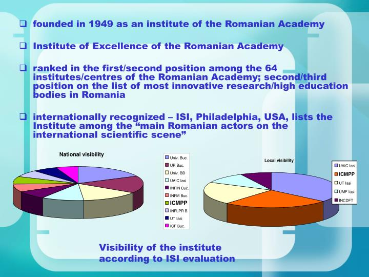 founded in 1949 as an institute of the Romanian Academy