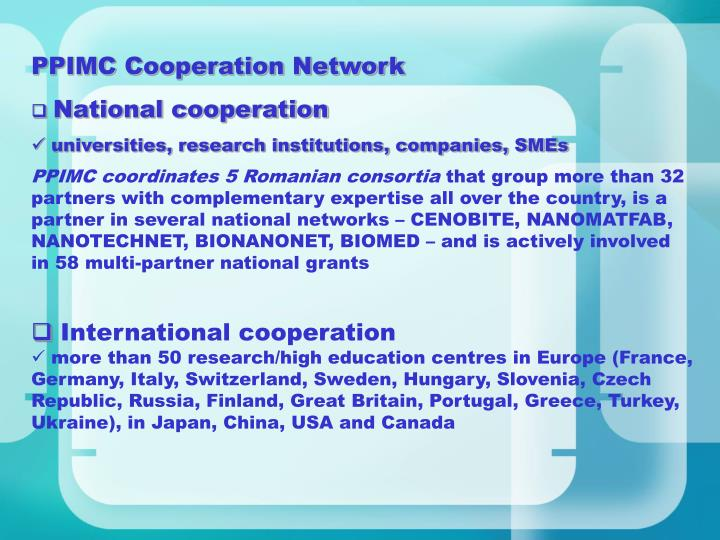 PPIMC Cooperation Network
