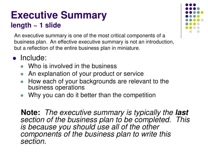 What Is an Executive Summary Business Plan?