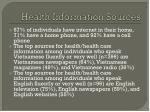 health information sources