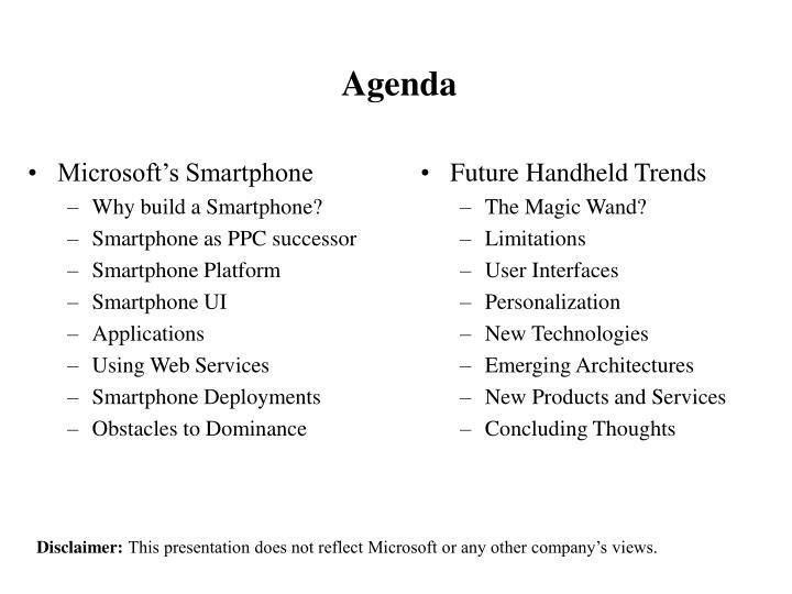 Microsoft's Smartphone
