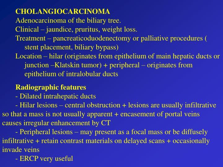 CHOLANGIOCARCINOMA