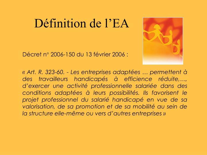 Définition de l'EA