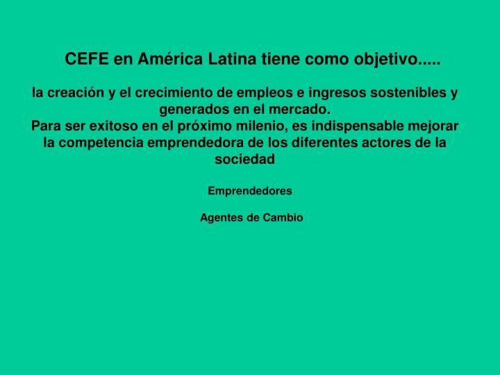 CEFE en América Latina
