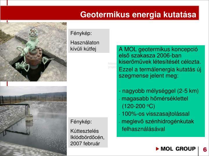 Geotermikus energia kutatása