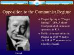 opposition to the communist regime