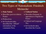 two types of nationalism friedrich meinecke