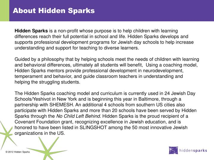 About Hidden Sparks