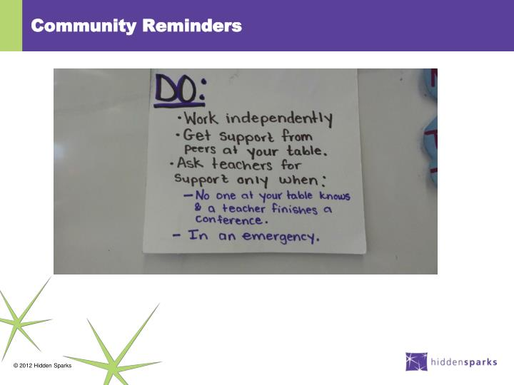 Community Reminders