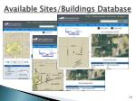 available sites buildings database