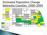 estimated population change nebraska counties 2000 2009