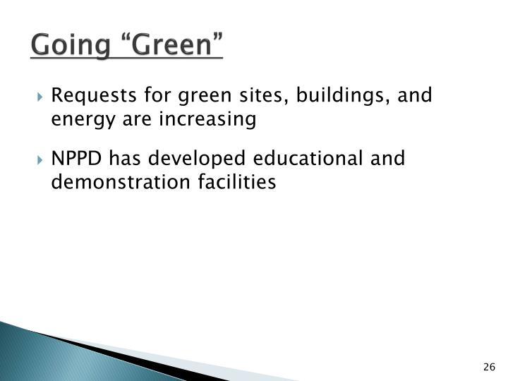 """Going """"Green"""""""