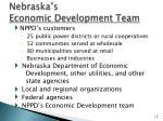 nebraska s economic development team