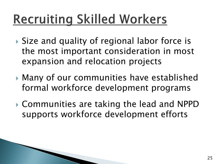 Recruiting Skilled Workers