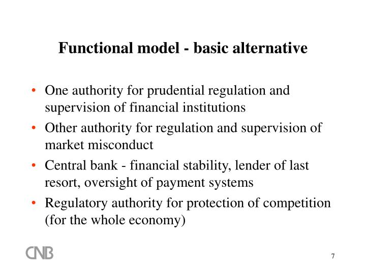 Functional model - basic alternative
