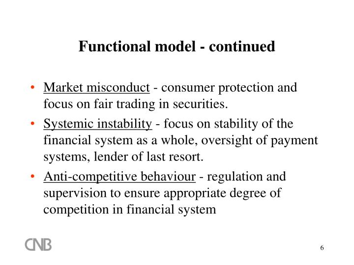 Functional model - continued