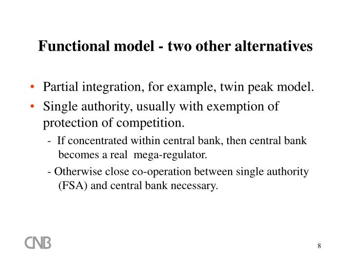 Functional model - two other alternatives